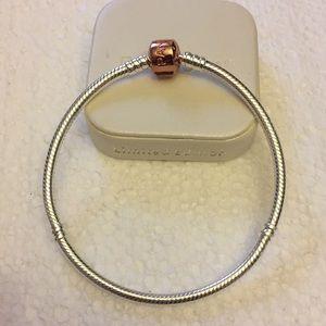 """Genuine pandora charm bracelet size 7.9"""""""